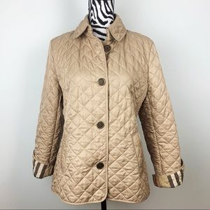 Burberry Brit Nova Check Quilted Jacket